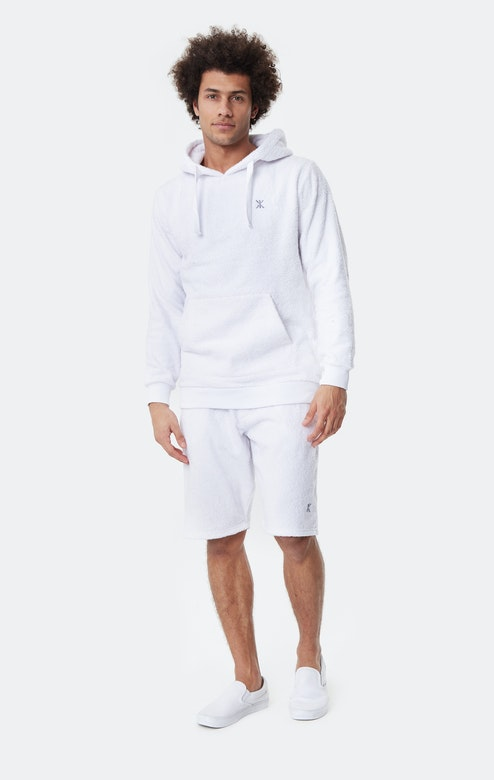 Onepiece Towel Hoodie White