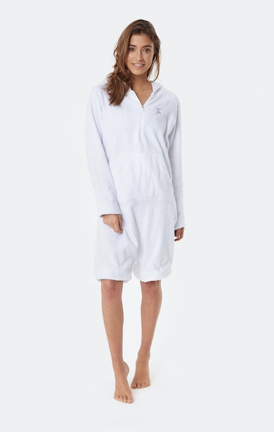 Onepiece Towel Jumpsuit White