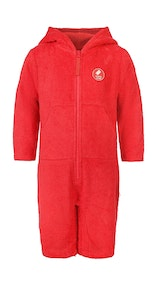 Onepiece Towel Kids Jumpsuit Retro Red