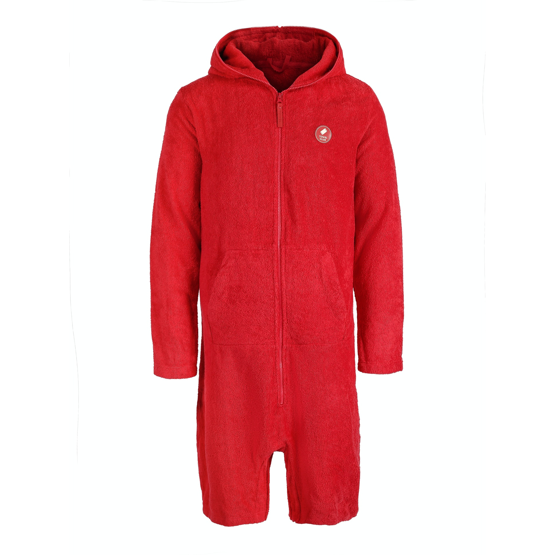 towel club x onepiece towel jumpsuit retro red