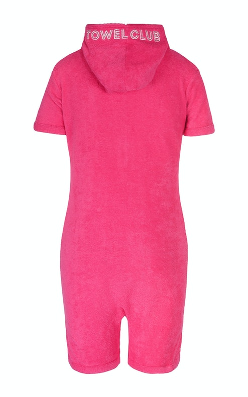 Onepiece Towel Short Slim Jumpsuit Pink