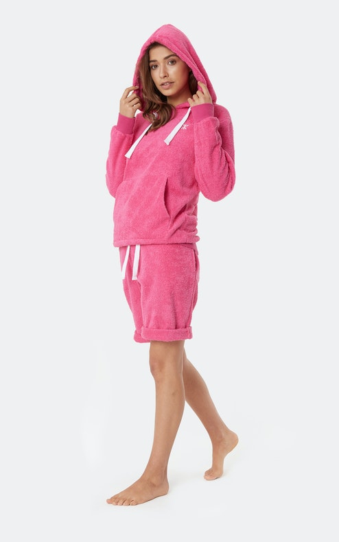 Onepiece Towel Shorts Hot Pink