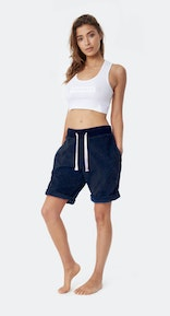 Onepiece Towel Shorts Navy