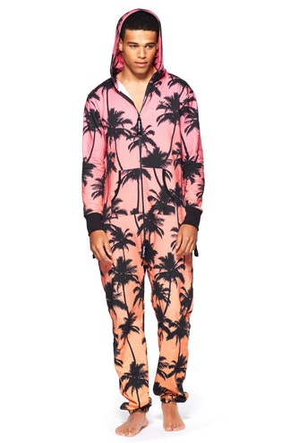 Onepiece Tropical Jumpsuit Sunset Red