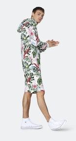 Onepiece Tropicana Short jumpsuit Off white print