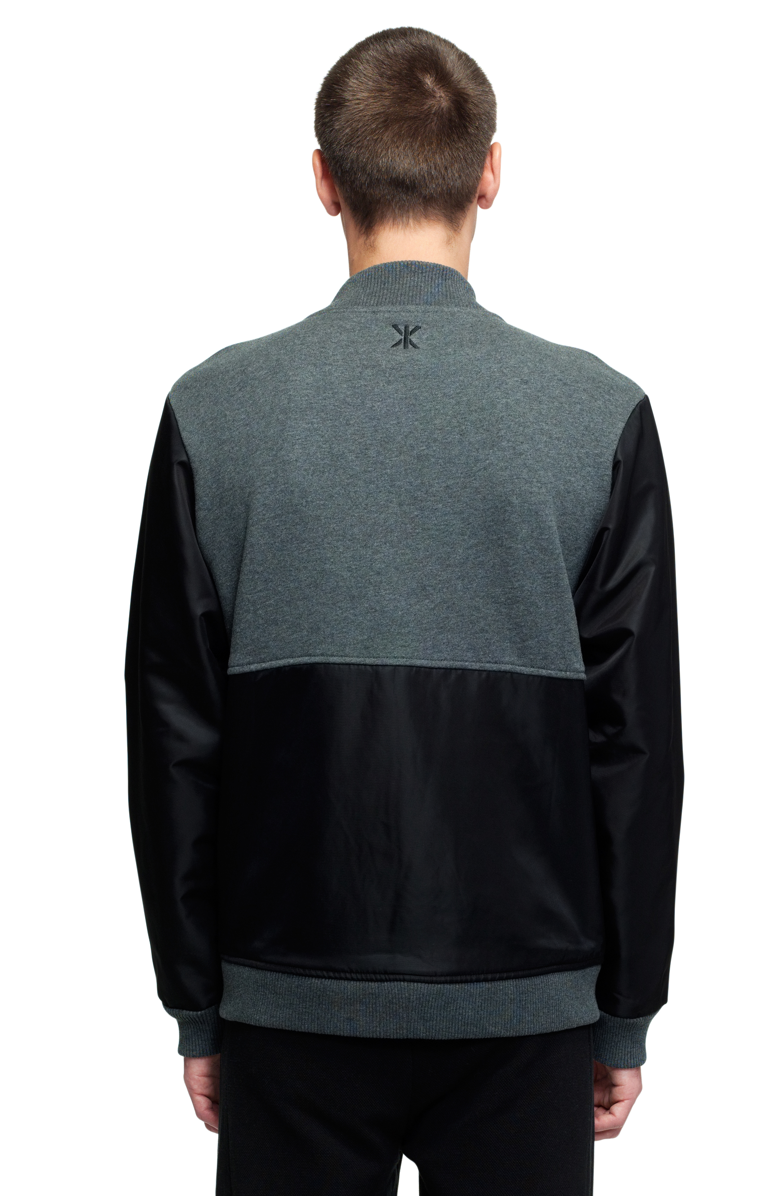 True College Jacket Dark Grey Mel Black