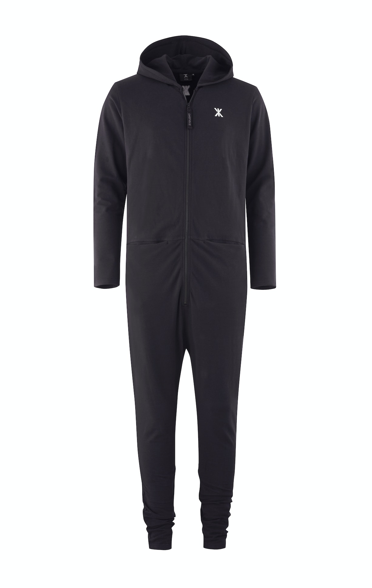 Uno Jumpsuit Black An updated version of the Classic Mono, the Uno jumpsuit is the ultimate loungewear. The piece features two hidden pockets on the waist, and a classic zipper.