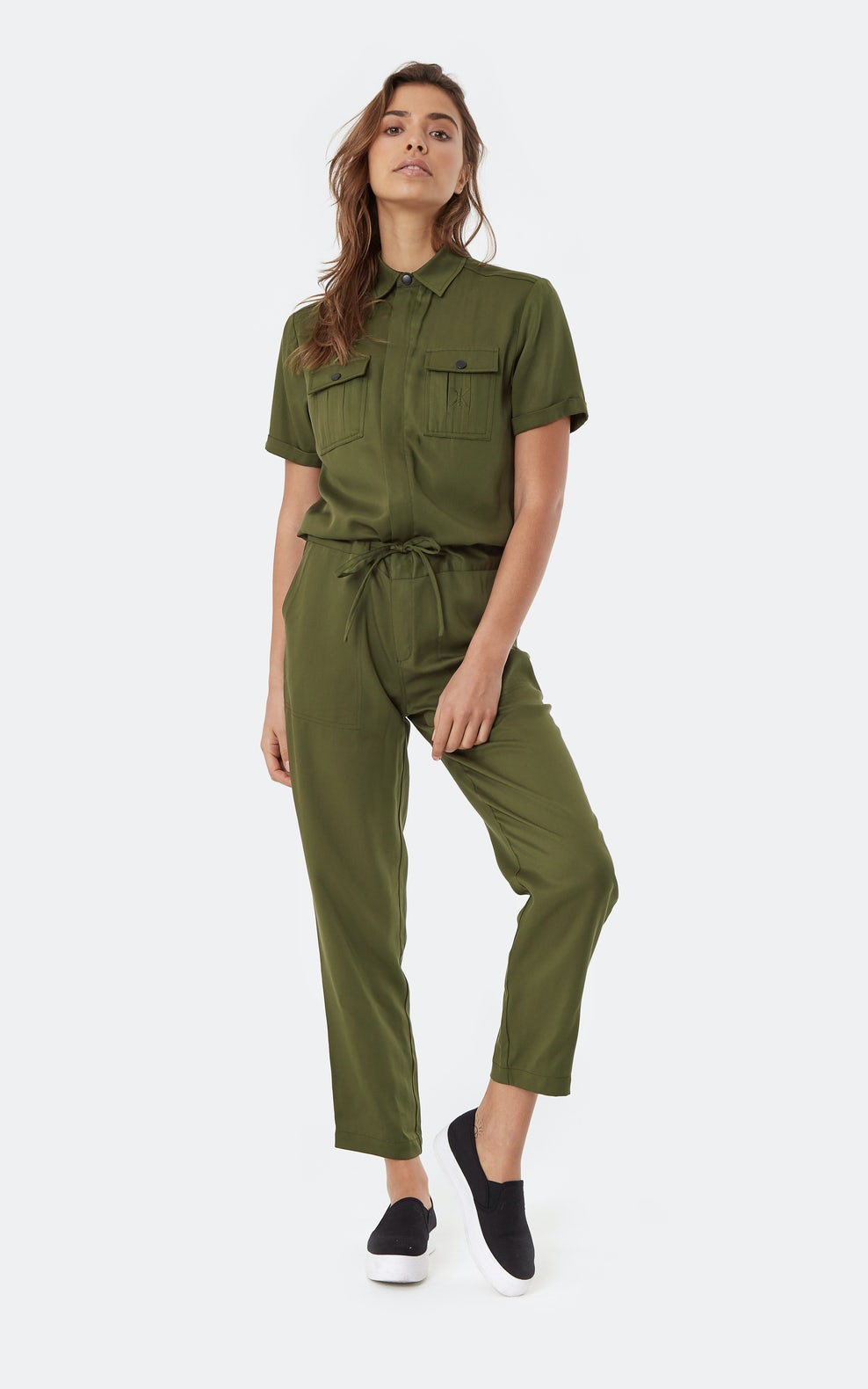 good texture shop for genuine enjoy free shipping Utility Jumpsuit Army