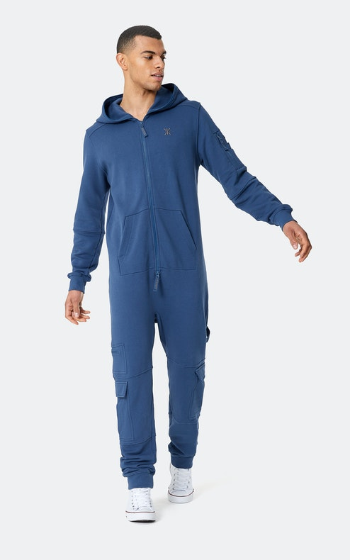 Onepiece Utility Jumpsuit Mid Blue