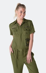 Onepiece Utility Patch Jumpsuit Army