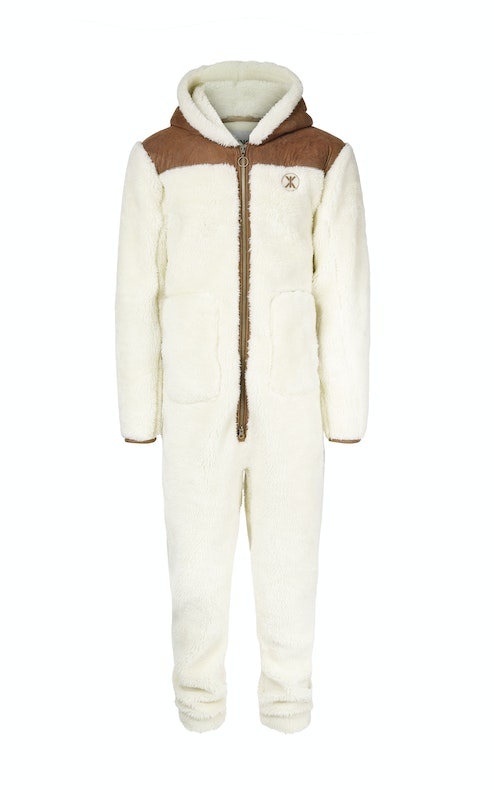 Onepiece Vegan Shearling Jumpsuit Off White