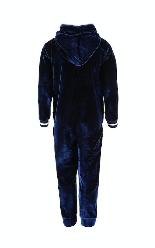 Onepiece Velour Kids Jumpsuit Navy