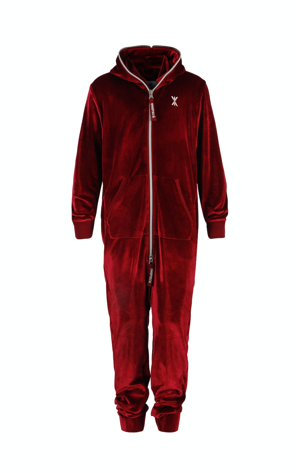 Velour Kids Jumpsuit Red