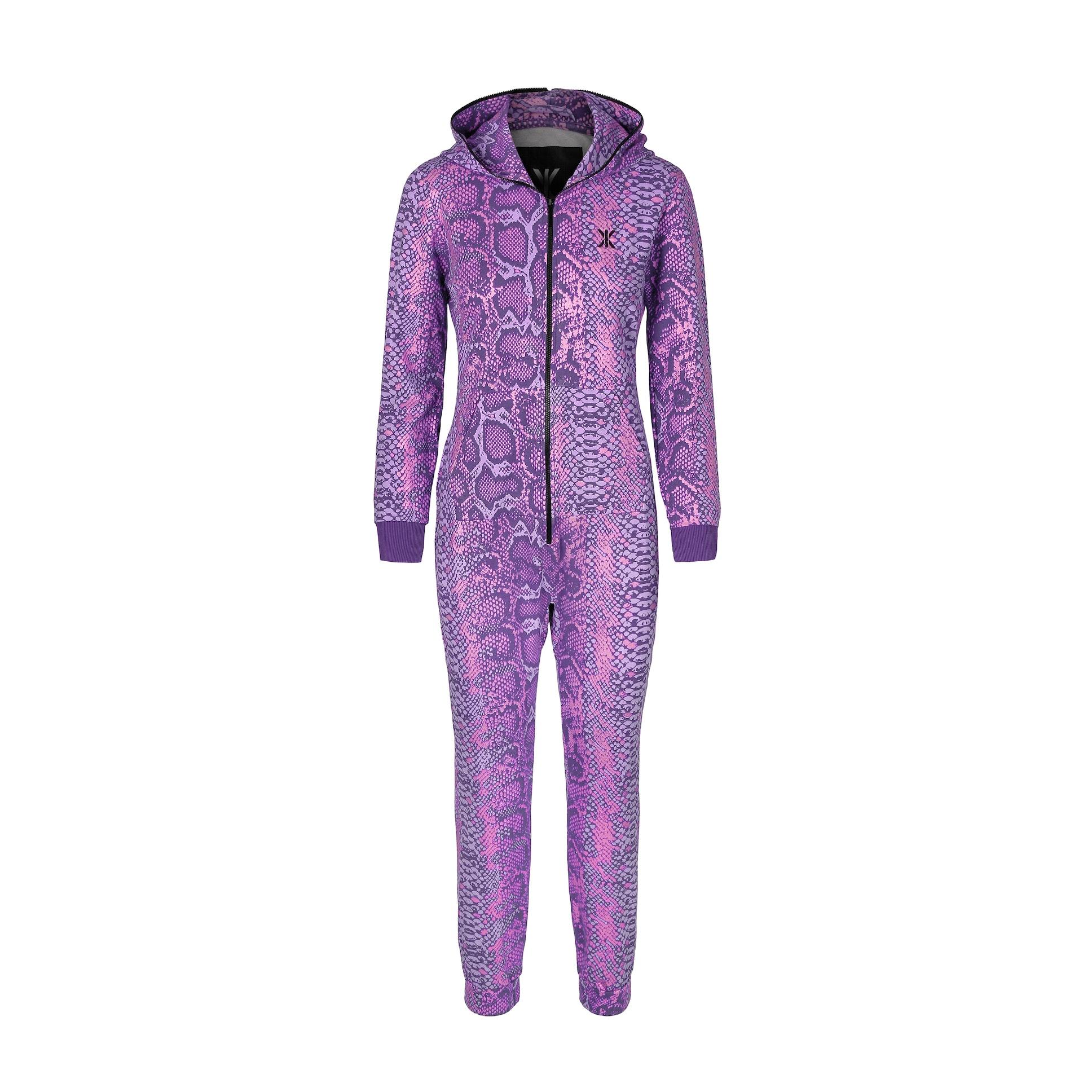 venomous slim jumpsuit purple