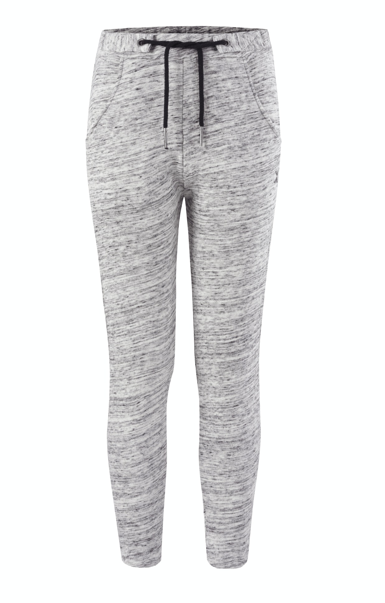 Whatever Pants Heavy Grey Melange Grey drop crotch womens jogger pant with loose fit in premium soft cotton.