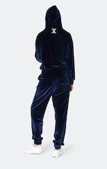 Onepiece Womens Velour Jumpsuit Blau