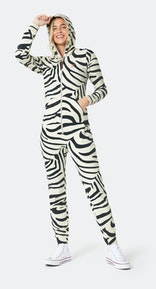 Onepiece Zebra Slim Jumpsuit Off-white